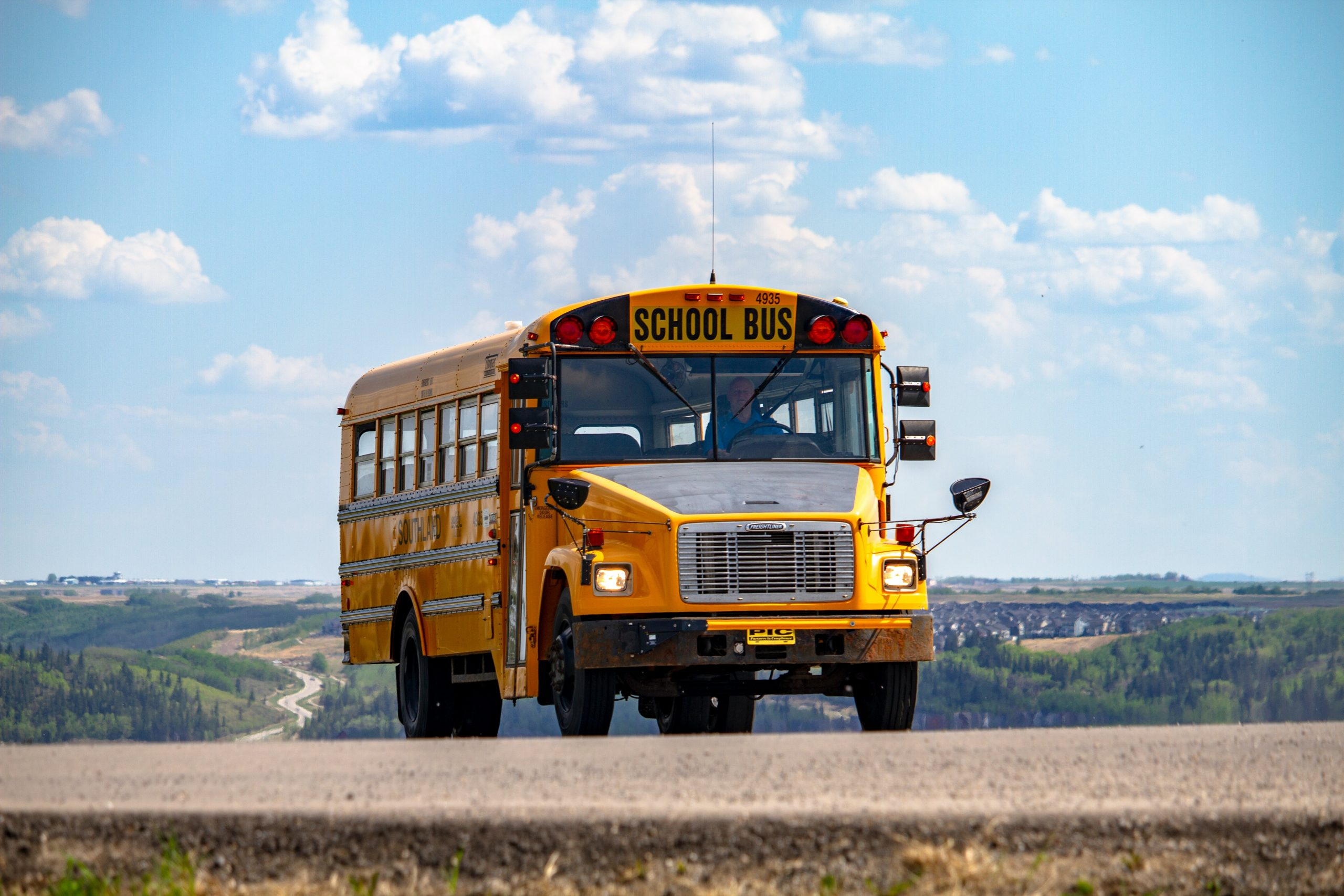 buying a used school bus